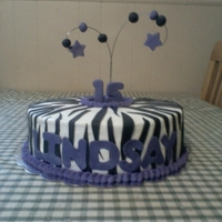 Zebra And Purple Cake