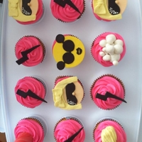 Lady Gaga Cupcakes Lady Gaga inspired cupcakes with hot pink vanilla buttercream!