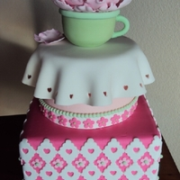 Sweet Teacup Practice baby shower cake. TFL