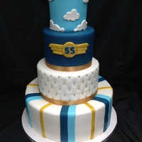Aviator Birthday We were requested to make this for the 55th birthday of an aviation enthusiast. Upon delivery we added an edible replica of th birthday...