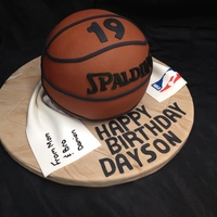 Basketball Birthday We had a client contact us from Hong Kong to order a birthday cake for her son attending university here in BC, Canada :)