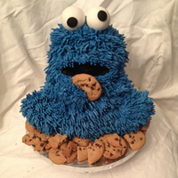 Cookie Monster Made Using Wilton 3D Teddy Bear Pan Cookie Monster made using Wilton 3D teddy bear pan.