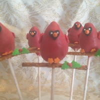 Cardinal Cake Pops I Made From The Holiday Cake Pops Book By Bakerella Cardinal cake pops I made from the Holiday Cake Pops book by Bakerella.