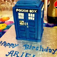 Tardis Birthday Cake Tardis Birthday Cake