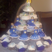 Bridal Shower Cupcake Tower Lots of fun, but very tedious -