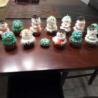 Snowmen And Trees Cupcakes