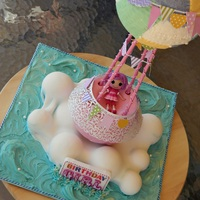 Hot Air Balloon Cake   2nd birthday cake for my daughter. Hot Air Balloon.