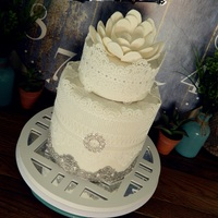 Lace Wedding Cake   Lace wedding cake. Vanilla and chocolate torte with chocolate ganache filling.