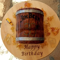 Jim Beam Barrel For A 30Th B Day   Jim Beam barrel for a 30th b day