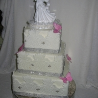 Daffodil Lace Wedding Cake Oakville Ontario By Cakes2Go.ca Daffodil Lace Wedding Cake Oakville Ontario by cakes2go.ca