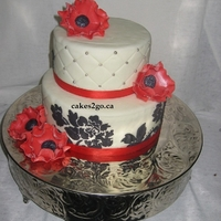 Red Anemone Flower Wedding Cake Oakville Ontario By Cakes2Go.ca Red Anemone Flower Wedding Cake Oakville Ontario by cakes2go.ca