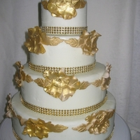 Gold Rose Wedding Cake Oakville Ontario By Cakes2Go.ca Gold Rose Wedding Cake Oakville Ontario by cakes2go.ca
