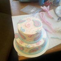Paisleys Playing with my new cricut cake