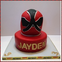 Samurai Power Ranger Cake