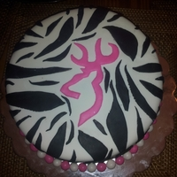 Zebra Print With Deer Silhouette