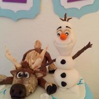 Frozen Cake Olaf and Sven, Frozen Cake