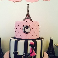 Girly Paris Cake https://www.facebook.com/pages/Sweet-Cakes-by-Andrea/328129687338500?fref=ts