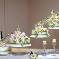 Sage And Ivory Elegant Garden Wedding  this cake travelled from Trinidad and Tobago to New York for my sister's wedding. It was a big hit with guests lining up to take...