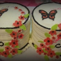 Butterfly Flower Cake For Twins
