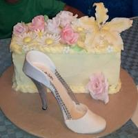 High Heel Fondant Pumps Cake Is Chocolate Cake With Caramel Filling And White Chocolate Covered In White Chocolate Whipping Cream Fondant High heel fondant pumps. Cake is Chocolate cake with caramel filling and white chocolate, covered in white chocolate whipping cream....