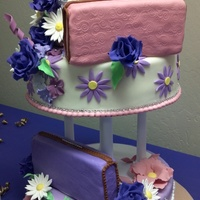 50Th Birthday Cake Birthday Gal Likes Purses And Flowers Cake Is Chocolate And Vanilla Frosted In Buttercream And Covered In Fondant Fo 50th Birthday cake. Birthday gal likes purses and flowers. Cake is chocolate and vanilla, frosted in buttercream and covered in fondant....