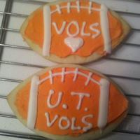 U.t. Football Cookies Football cookies with royal icing