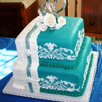 65Th Wedding Anniversary Cake This cake was inspired by a wonderful one on Cake Central. I made it in honor of my Husbands, Grandparents 65th wedding anniversary and...
