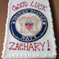 United States Navy Cake This cake was for my nephew, who is headed into the Navy next month. So Proud of him !!
