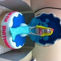 Clam Shell Mermaid Cake