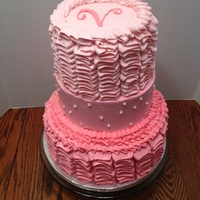 Girly Ruffle Birthday Cake This cake was my own personal nightmare. It was my first time using Swiss Buttercream, which I liked, but did not have enough of. It used a...