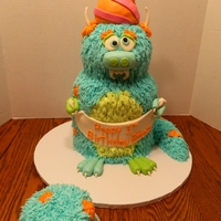 Nice Monster This was based on the Confetti Cakes monster pic that is all over the web, but obviously I changed a few things. He's chocolate cake...