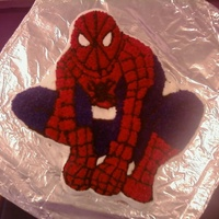 Spiderman Cake I made this for a Wilton class I took. My boys loved it. :-)