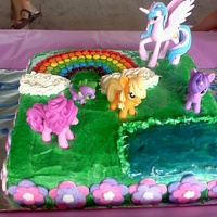 My Little Pony Cake My little niece wanted a My Little Pony Cake for her birthday this year.... I racked my brain trying to think of ideas & this is what I...