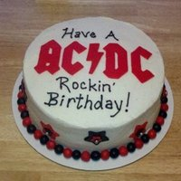 Ac/dc Rockin' Birthday I made this orange creamcicle cake with cream chees icing for my husband's birthday. This is his favorite flavor cake that I make and...