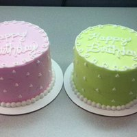 Two Of A Kind I made these cakes for two of my co-workers that share the same birthday and name - Mary. One cake was a pina colada cake and the other a...