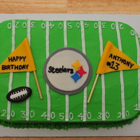 A Steelers Birthday My client's son was celebrating his 13th birthday and wanted a Pittsburgh Steelers cake. This is what I created for them. It was a...