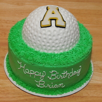 Appalachian State University Golf Ball Cake This is a white cake with vanilla buttercream icing made especially for my client's brother who LOVES golf and ASU. They botht LOVED...