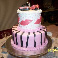 Diva Birthday Cake This was my daughters 11th bday cake. I made the shoe and purse out of fondant, and brushed with pearl luster. I used the shoe template I...