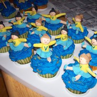 Cheerleader Cupcakes My Daughter is the coach of a Middle School Cheerleading group. She wanted something to depict the gang for a fundraiser. The Cheerleaders...
