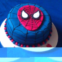Spiderman I made this cake cake for 4yr old little boy who's favourite super hero is spiderman. The cake is a vanilla sponge with a strawberry...