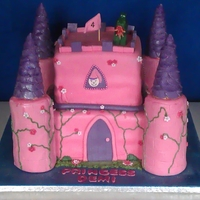 Pink Princess Castle This castle cake was for a little girl, who dreams of being a princess, a pink princess! Always a pleasure to do a castle think it turned...