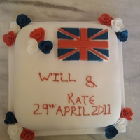 Celabration Cake For Prince William & Kate Middleton red white and blue theme to celabrate the royal wedding