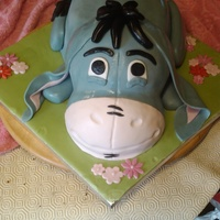 Eeyore really enjoyed doing this cake, everything is edible
