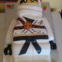 Lego Ninja This cake was fab to make, as well as being a bit of a challenge! It's a triple choc fudge cake thatn I've carved in to different...