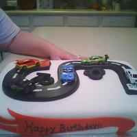 Hot Wheel Cake Hot Wheels cake for boys 5th b-day