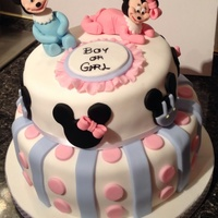 Mickey And Minnie Baby Shower Cake