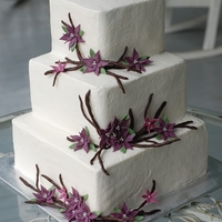 Flowers & Branches Wedding Cake