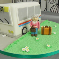 Coach Cake My husbands nan goes on coach holidays every year so did this cake for her 80th