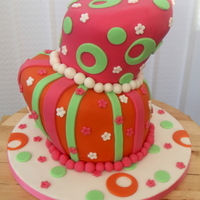 My First Topsy Turvy Cake This is my first go at a topsy turvy cake. think i know how i can do it better next time but any comments, hints or tips would be great,...