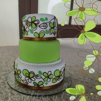 Spring Wedding Cake Decoration Based On The Invitation Art Spring wedding cakeDecoration based on the invitation art
